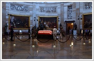 Casket in the capitol rotunda