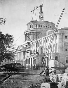 Construction of the capitol extension