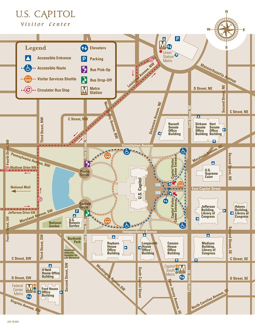 U.S. Capitol Map | U.S. Capitol Visitor Center