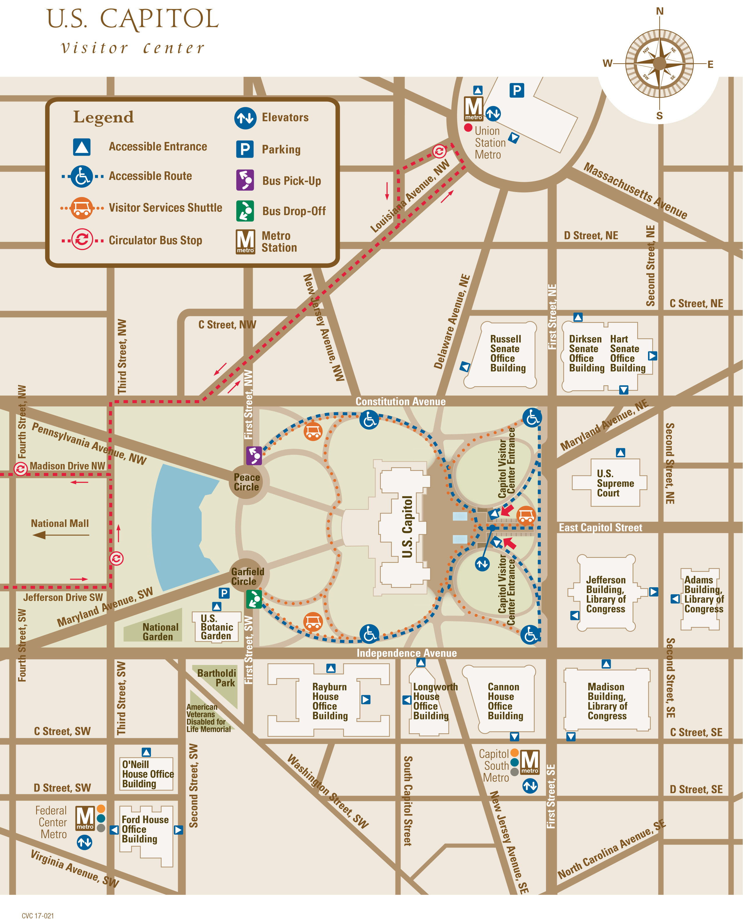 US Capitol Map