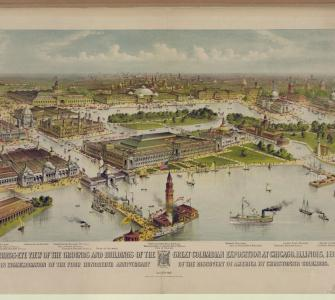 Bird's Eye View of Grounds of the Great Columbian Exposition at Chicago, 1892-3