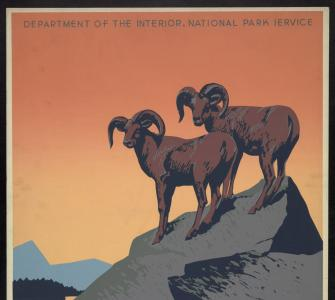 The National Parks Preserve Wild Life.  Poster, ca. 1939
