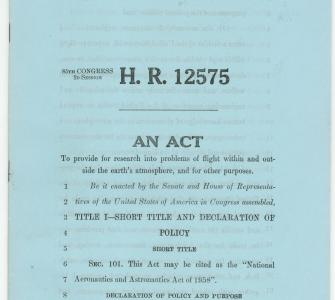 Bill to Establish the National Aeronautics and Space Administration