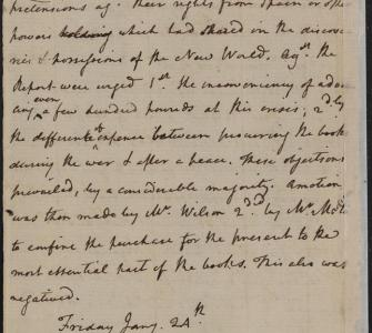 James Madison's Notes of Debate in Congress, January 23, 1783