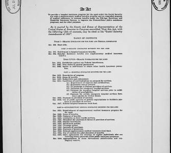 The Medicare Act, 1965