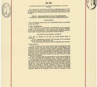 An act to provide for the safe keeping of the Acts, Records, and Seal of the United States