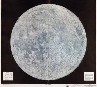 USAF Lunar Reference Mosaic LEM-1, 3rd Edition, July 1966