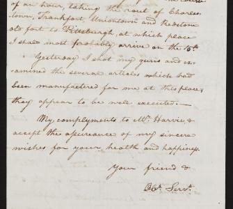 Letter from Meriwether Lewis to Thomas Jefferson, July 8, 1803