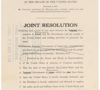 S.J. Res. 119, Joint Resolution Declaring War with Germany, December 11, 1941