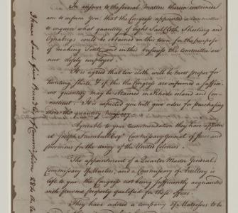 Letter from the Continental Congress to George Washington, July 24, 1775 - Page 1