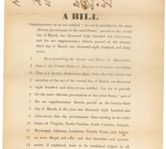 H.R. 123, Third Reconstruction Act, July 8, 1867