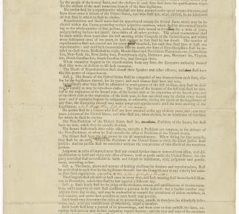 Printed Draft of the U.S. Constitution by the Committee on Revision of Style and Arrangement, September 13, 1787