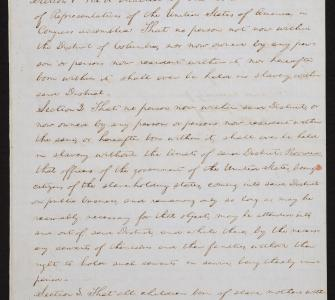 Congressman Abraham Lincoln's Draft of a Bill to Abolish Slavery in the District of Columbia, January 1849
