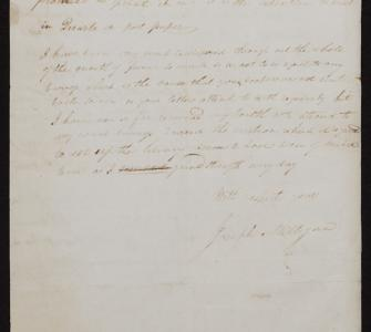 Letter from Joseph Milligan to Thomas Jefferson, July 31, 1815
