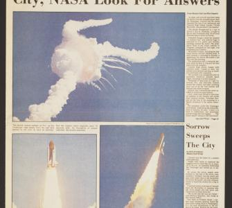 """City, NASA Look For Answers,"" Concord Monitor, New Hampshire, January 29, 1986"