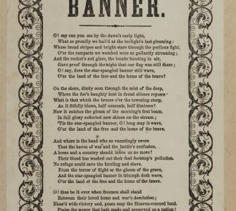"Broadside, ""The Star Spangled Banner,"" Andrew's Printer, New York, c. 1861-65"