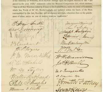 Petition from citizens of Pennsylvania against slavery in the territories, February 7, 1854