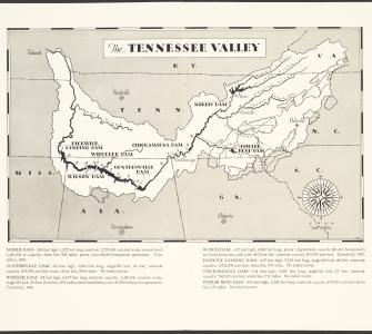 """The Tennessee Valley,"" inside TVA pamphlet The Development of the Tennessee Valley, n.d."