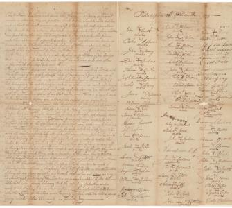 Petition of Absalom Jones, and others, people of color, and freemen against the slave trade to the Coast of Guinea, January 2, 1800