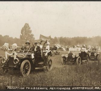 Reception to U.S. Senate Petitioners, Hyattsville, M.D., July 31, 1913