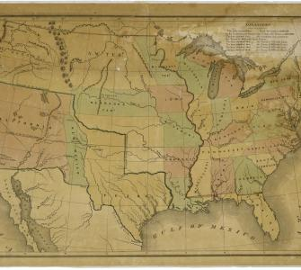 Map of the United States including Western Territories, December, 1848