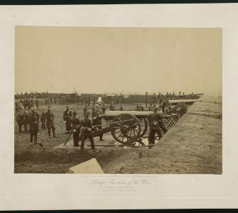 Albumen photograph, Brady's Incidents of the War, Fort Richardson, Arlington, Virginia, 1861-1862