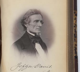 Portrait of Jefferson Davis, McClee's Gallery of Photographic Portraits of the Senators, Representatives, and Delegates of the 35th Congress, 1859