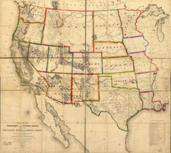 Map, Territory of the United States from the Mississippi River to the Pacific Ocean, compiled by G.K. Warren et al.,1858