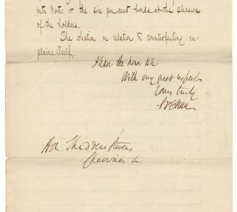 Letter from Salmon P. Chase to Representative Thaddeus Stevens, January 29, 1862