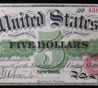 Greenbacks (United States notes) issued March 10, 1862