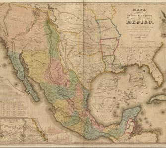 Mapa de los Estados Unidos de Mejico [Map of the United States of Mexico] by J. Disturnell, 1847