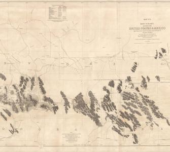 Boundary between the United States and Mexico, map by William H. Emory, 1855