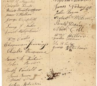 Petition from Bowdoinham, Maine, against the annexation of Texas, December 12, 1837