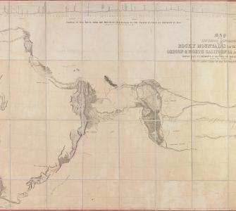 Map of an Exploring Expedition to the Rocky Mountains . . . and to Oregon and North California . . . , hand-colored map by Brevet Capt. J.C. Frémont, 1845