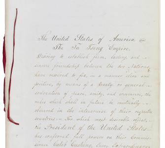 Treaty of Wangxia (Treaty of Peace, Amity, and Commerce between the United States and China), July 3, 1844