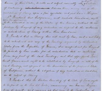 Henry Clay's handwritten resolutions proposing the Compromise of 1850, January 29, 1850