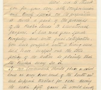 Letter from Frederick Douglass to Hon. Justin S. Morrill, January 4, 1880 - Page 1