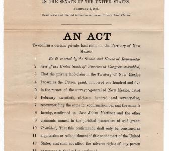 H.R. 6729, An Act to confirm a certain private land claim in the Territory of New Mexico, 1881