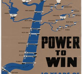 Power to Win: Ten Years of TVA, poster, 1945