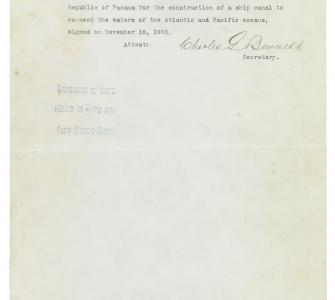 Senate resolution ratifying the Hay-Bunau-Varilla Treaty, February 23, 1904
