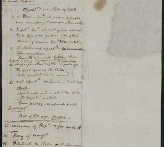 James Madison's notes for his speech introducing the Bill of Rights, June 8, 1789