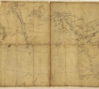 Tracing of Western North America, engraved map by Nicholas King, ca. 1803, with annotations by Meriwether Lewis, ca. 1804