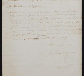 Letter from Joseph Milligan to Thomas Jefferson regarding inventory and appraisal of Jefferson's collection, July 31, 1815