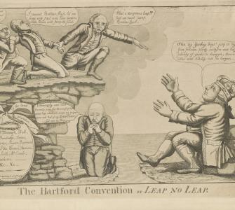 The Hartford Convention or Leap No Leap, etching by William Charles, ca. 1814