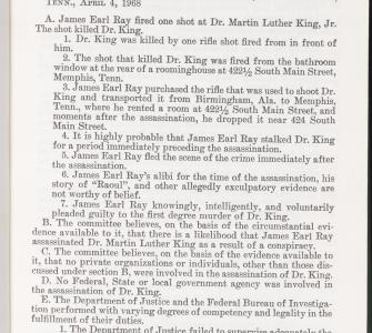 Report of the Select Committee on Assassinations of the U.S. House of Representatives, Washington, D.C., vol. 1, 1979 (Page 3)