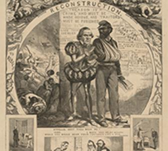 Andrew Johnson's Reconstruction and How It Works, engraving by Thomas Nast, September 1, 1866