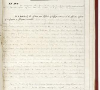 An Act to enforce the provisions of the Fourteenth Amendment (Ku Klux Klan Act), April 20, 1871