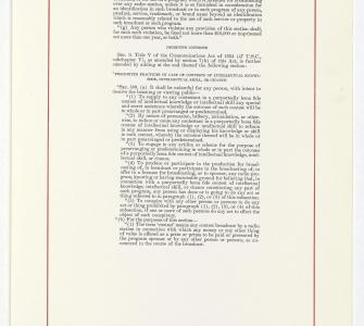Communications Act Amendments, September 13, 1960