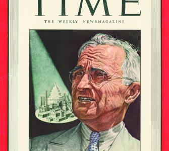 Investigator Truman, cover portrait by Ernest Hamlin Baker, TIME Magazine, March 8, 1943