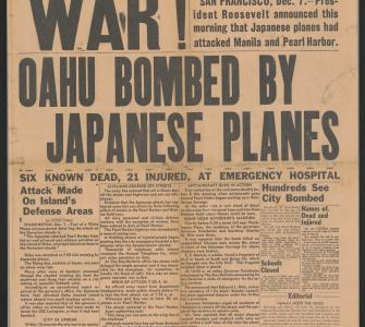 Honolulu Star-Bulletin, front page, December 7, 1941